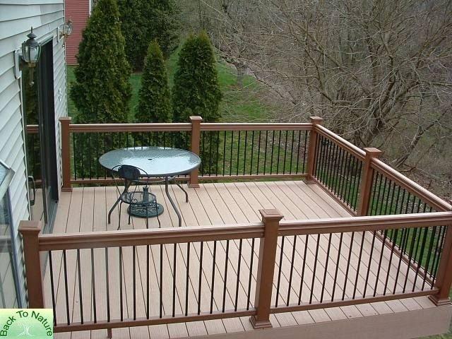 creative deck railing ideas for inspiration home depot canada systems aluminum lowes menards