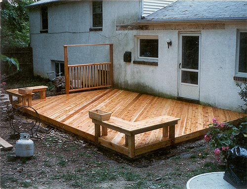Gd 11 Willow Grove Ground Level Deck Ultra Low Maintenance Pvc